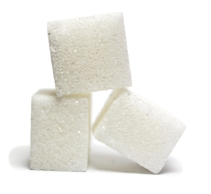 Cubes of sugar. White sugar. Oh, my life.